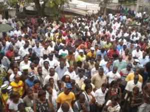 Une grève au Gabon