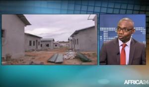 Mays Mouissi sur le plateau de l'Africa News Room d'Africa24
