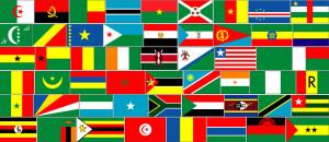 Drapeaux des 54 pays d'Afrique